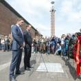 04-05-2014, Amsterdam Olyimpisch Stadion, Dodenherdenking, sporters.Boer de, frank, Ronald, kranslegging, Ajax.